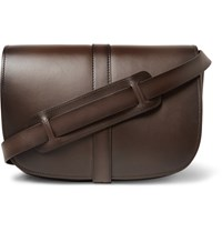 Tom Ford Dylan Leather Messenger Bag Dark Brown