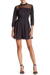 19 Cooper 3 4 Length Sleeve Lace Dress Gray