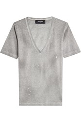 Dsquared2 Distressed Cotton T Shirt