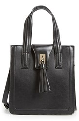 Sole Society 'Mini Hayes' Structured Faux Leather Tote Black