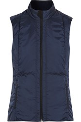 Falke Ergonomic Sport System Jersey Trimmed Quilted Shell Gilet Midnight Blue
