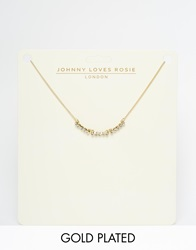 Johnny Loves Rosie May Choker Necklace Gold