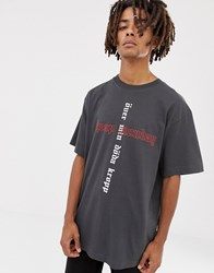 Cheap Monday Uni T Shirt With Cross Logo Grey