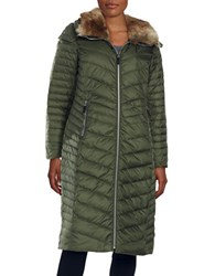 Marc New York Faux Fur Collared Parka