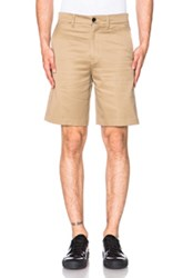 Acne Studios Adrian Cotton Shorts In Neutrals