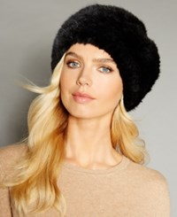 The Fur Vault Knitted Mink Headband Black
