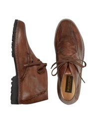 Pakerson Brown Handmade Italian Leather Ankle Boots