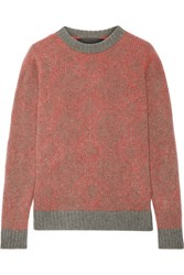 The Elder Statesman Southwest Two Tone Cashmere Sweater Red