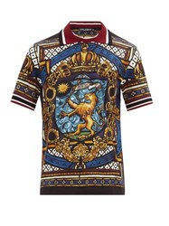 Dolce And Gabbana Stained Glass Print Cotton T Shirt Multi