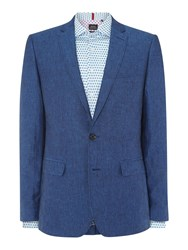 Simon Carter Sb2 Linen Slim Fit Jacket Navy