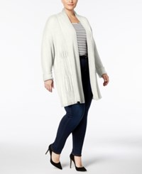 Charter Club Plus Size Ribbed Knit Duster Cardigan Created For Macy's Cloud