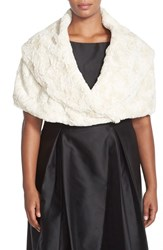 Plus Size Women's Eliza J 'Furbie' Faux Fur Shawl Collar Capelet