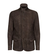 Allsaints All Saints Emerson Leather Blazer Male Brown