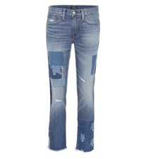 Polo Ralph Lauren Distressed Cropped Jeans Blue
