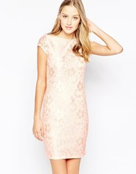 Girls On Film Lace Dress With Cowl Back Beige