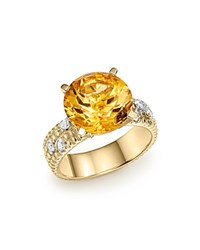 Bloomingdale's Citrine Statement Ring With Diamonds In 14K Yellow Gold Orange Gold