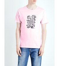 Obey Defiant Rose Graphic Print Cotton Jersey T Shirt Pink
