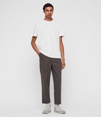 Allsaints Muro Cropped Tapered Chinos Slate Grey