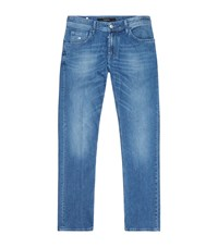 Stefano Ricci Mid Wash Relaxed Denim Jeans Male Blue
