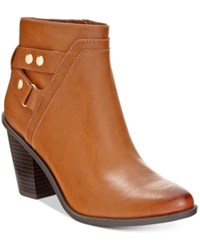 Bar Iii Dove Block Heel Booties Only At Macy's Women's Shoes Banana Bread