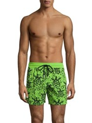 Vilebrequin Flocked Bubble Shorts Green