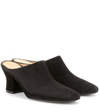 The Row Adele Suede Mules Black