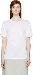 Alexander Wang White Linen Silk Oversized T Shirt