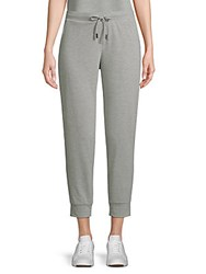 Saks Fifth Avenue Cropped Fleece Sweatpants Light Heather