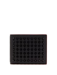 Christian Louboutin Coolcoin Stud Embellished Leather Wallet Black