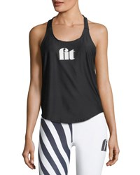 Chrldr Fit T Back Tank Black
