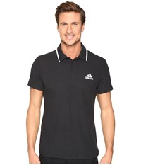 Adidas Essex Polo Black White Men's Short Sleeve Pullover