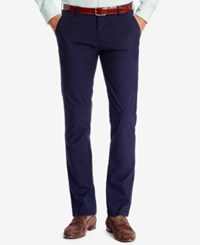 Hugo Boss Men's Slim Fit Tartan Chino Pants Darkblue