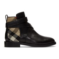 Burberry Black House Check Pryle Boots
