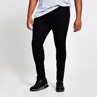 River Island Big And Tall Black Danny Super Skinny Jeans