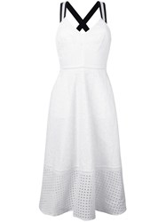 Markus Lupfer Patchwork Embroidery Dress Women Cotton Polyester M White