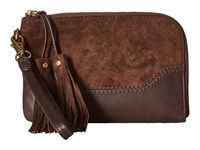 Frye Paige Wristlet Dark Brown 1 Wristlet Handbags
