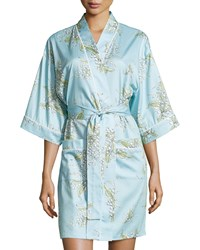 Bedhead Lily Of The Valley 3 4 Sleeve Robe Turquoise
