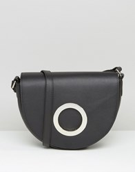 Mango Saddle Bag With Round Buckle Black