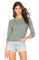 Monrow Thermal Raglan Tee Green