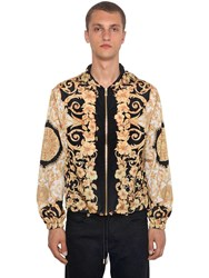 Versace Tech Hibiscus Heritage Hooded Jacket Black Gold