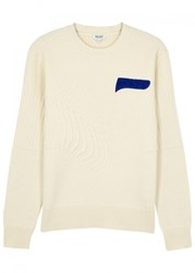 Kenzo Cream Ribbed Wool Jumper Off White