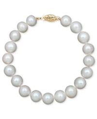 Belle De Mer Pearl Cultured Freshwater Pearl Strand Bracelet In 14K Gold 8 1 2 9 1 2Mm