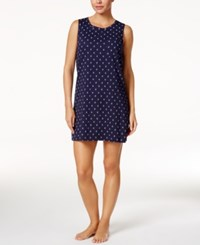Nautica Anchor Print Knit Chemise Navy Anchor Print