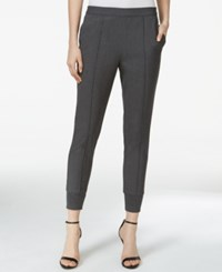 Kensie Heathered Crepe Track Pants