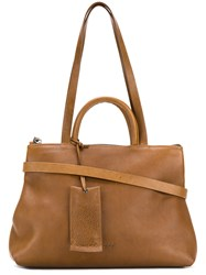 Marsell Multiple Strap Tote Bag Leather Brown
