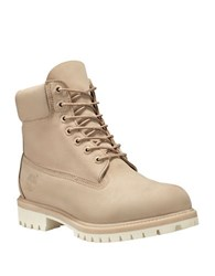 Timberland Nubuck Leather 6 Inch Boots Croissant