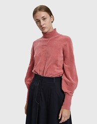 Just Female Adelet Velour Pullover Rupture Rose