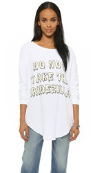 Wildfox Couture Do Not Wake The Bridezilla Sweatshirt Wedding White