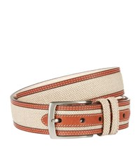 Harrods Of London Linen Raffia Belt Unisex Beige