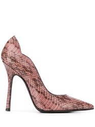 Marc Ellis Snakeskin Effect Pumps Pink